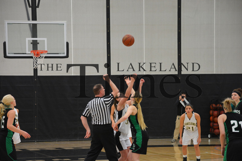2-11-14 Lakeland Girls' Basketball vs. Rhinelander