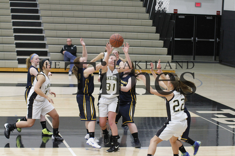 2-7-14 Lakeland Girls' Basketball vs. Tomahawk