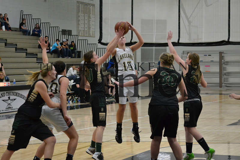 LUHS Girls' Basketball vs Chequamegon 12-2-13