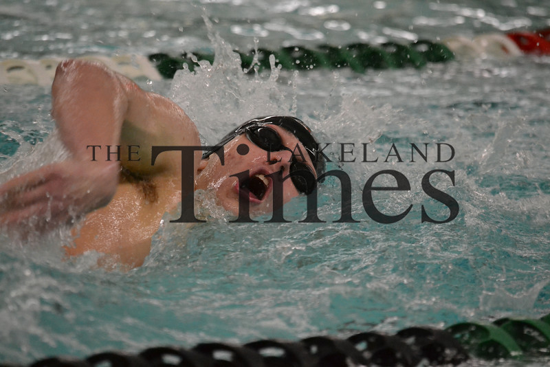 LUHS Boys' Swim at Rhinelander 12-12-13