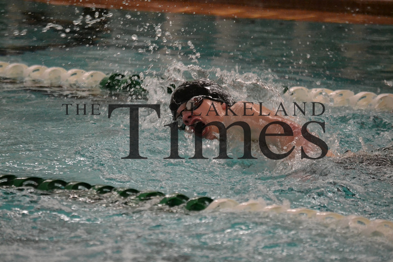 Lakeland Boys' Swim at Rhinelander Invite 12-7-13