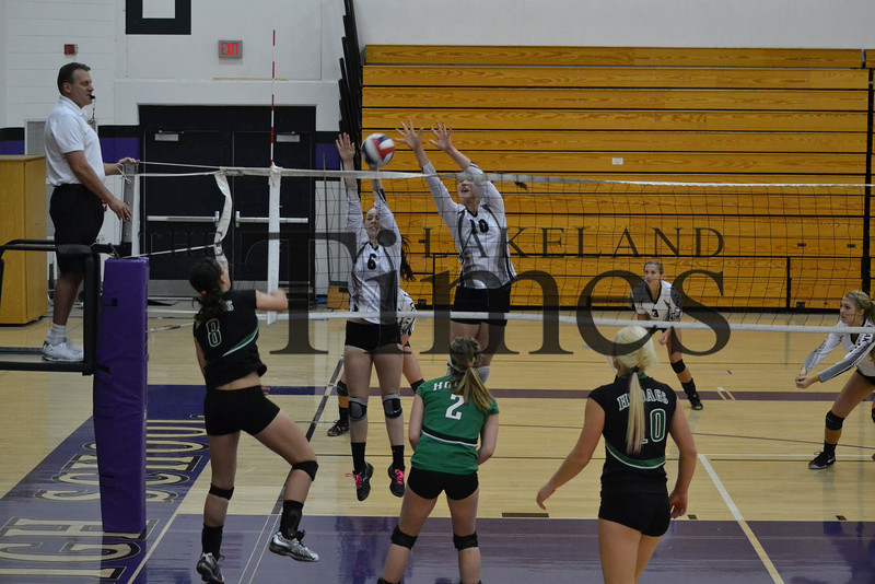 Lakeland volleyball vs. Rhinelander 10-19-13