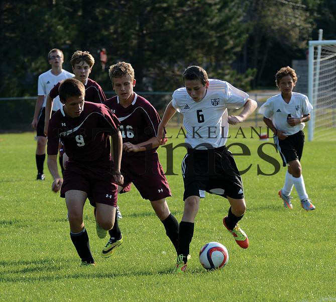 8-22-15 Lakeland JV Soccer Scrimmage vs. Ironwood