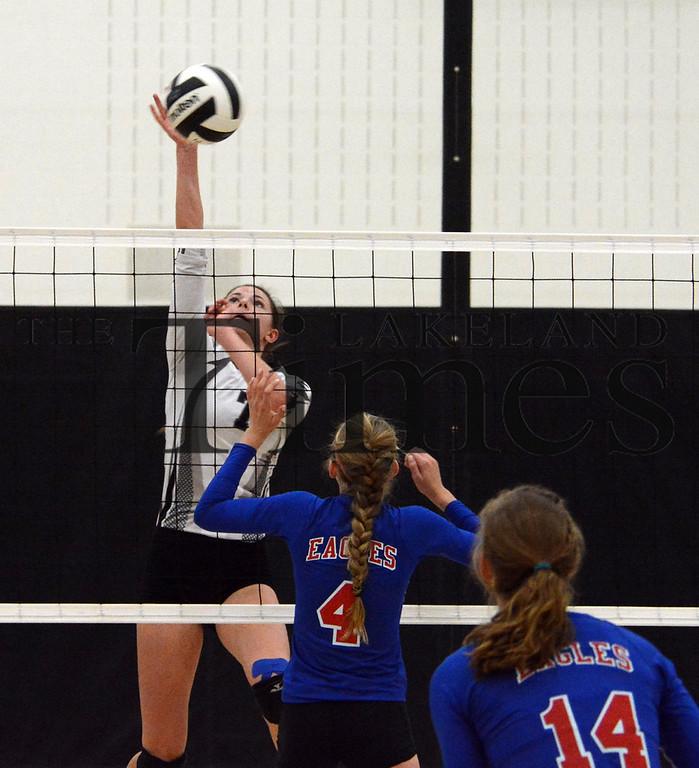 9-29-15 Lakeland Volleyball vs. Northland Pines